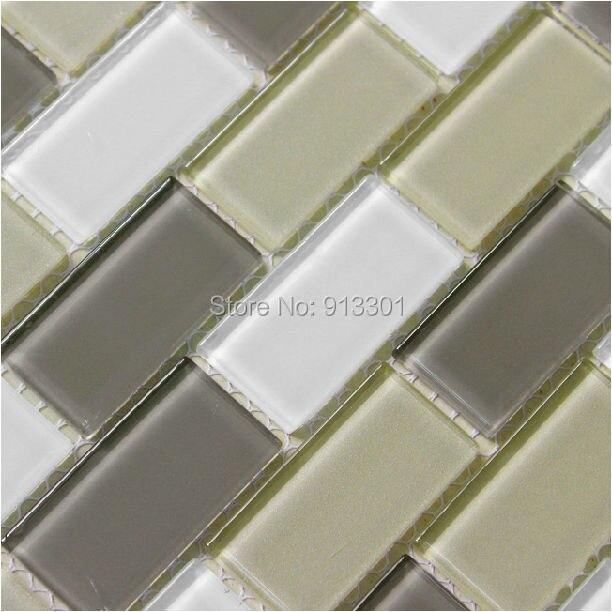Subway Glass Mosaic Tile Mix Colors Brick Wall Panels