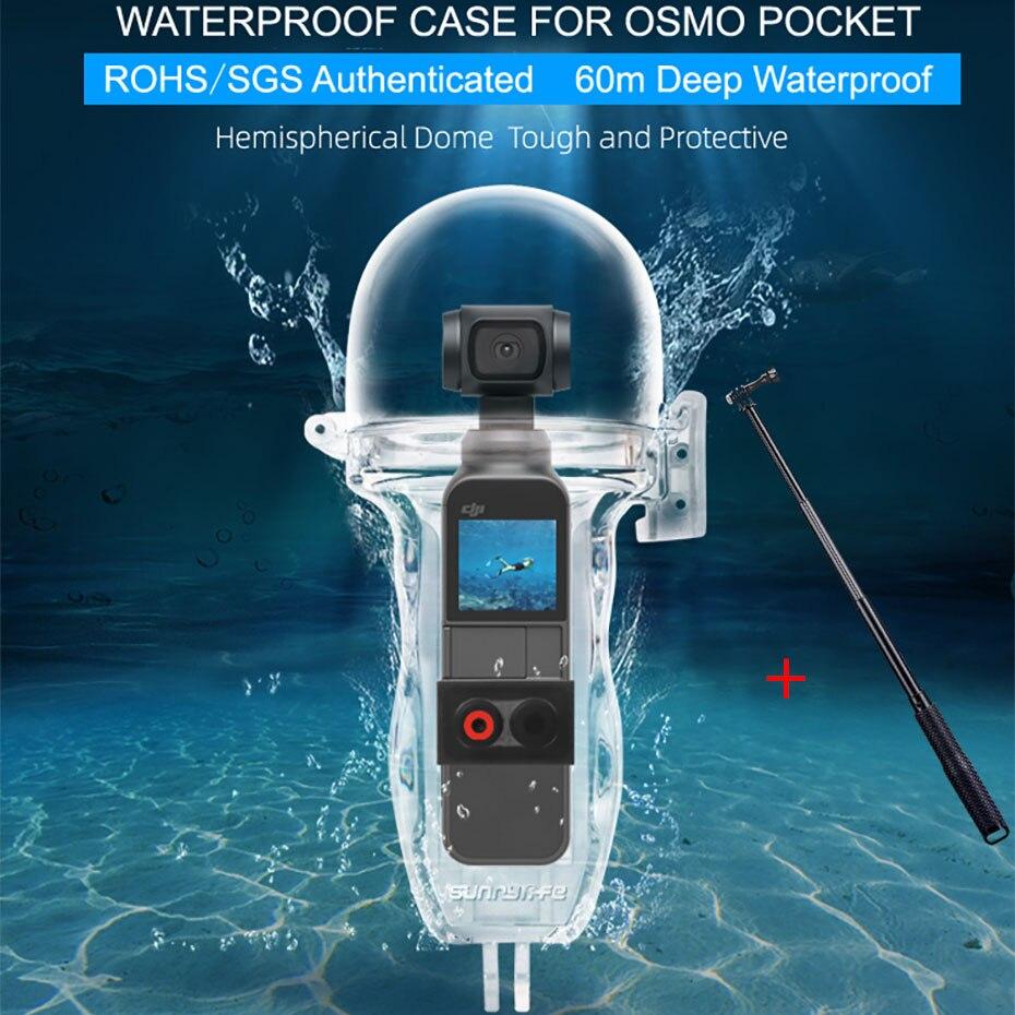 Waterdichte Duiken Behuizing Case Voor DJI OSMO Pocket 60m Onderwater Surfen Protector Bag Handheld Gimbal Stabilizer Camera Cover-in Gimbal accessoires van Consumentenelektronica op  Groep 1