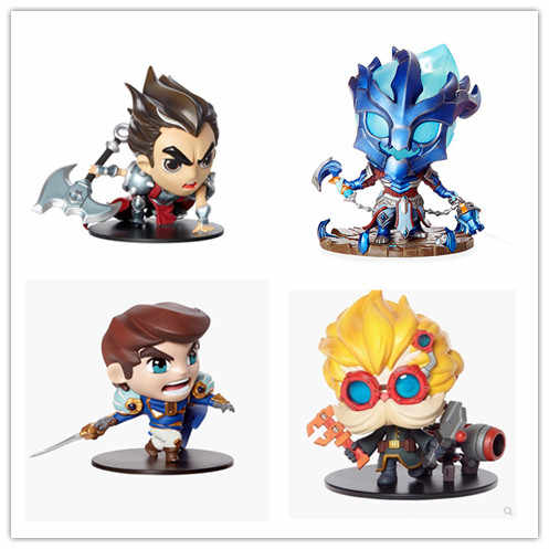 Game  8 styles PVC Action figure Heimerdinger Lulu Vi Galen Darius Thresh Collectible Model Toy  In stock