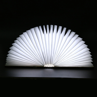 Creative Foldable Pages Led Book Shape Night Light Lighting Lamp Portable Booklight Usb Rechargeable White