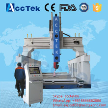 3D woodworking italy hsd spindle atc cnc router machines, 5 axis wood carving machine, 5 axis cnc center machine price