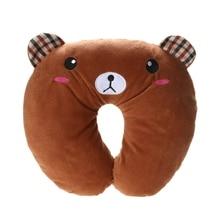 Multi-Colour Cartoon Animal Neck Headrest Travel Pillow