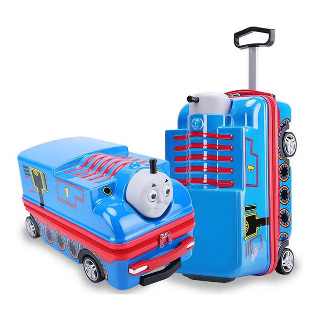 Kids scooter suitcase storage trolley luggage bag for children carry-on rolling luggage ride on trolley suitcase case on wheels