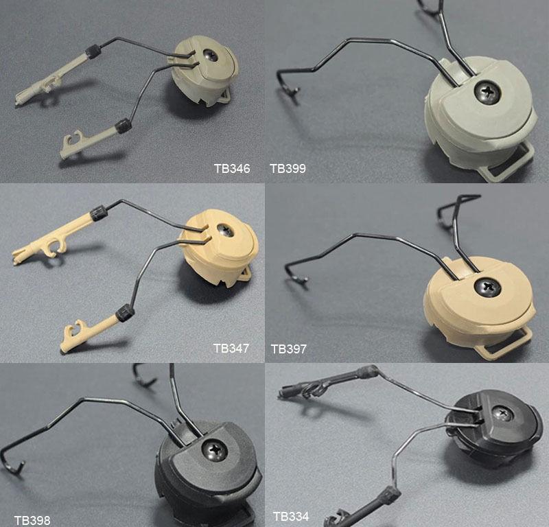 FMA Helmet Accessories Sordin Type Headset Holder Fast Helmet Rail Adapter Set BK/DE/FG Free Shipping
