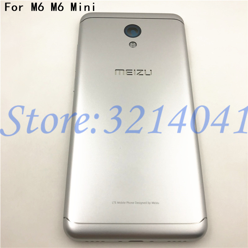 5.2 Inches For Meizu M6 M6 Mini M711H M711Q Metal Battery Back Cover Replacement Parts Case+Buttons Camera Lens+side Keys