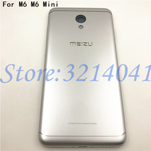 5.2 pouces pour Meizu M6 m6 mini M711H M711Q métal batterie couverture arrière pièces de rechange boîtier + boutons caméra lentille + touches latérales