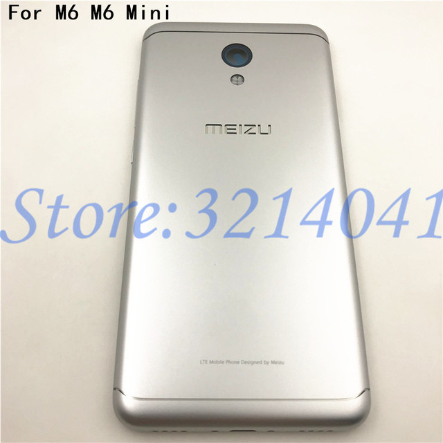5,2 zoll Für Meizu M6 m6 mini M711H M711Q Metall Batterie Zurück Abdeckung Ersatz Teile Fall + Tasten Kamera Objektiv + seite tasten