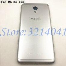 Meizu m6 m6 mini m711h m711q 용 5.2 인치 금속 배터리 백 커버 교체 부품 케이스 + 버튼 카메라 렌즈 + 사이드 키