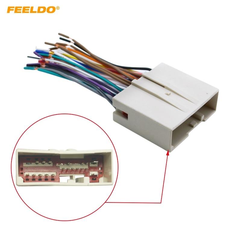 Ffeldo 1pc Car Radio Cd Player Wiring Harness Audio Stereo