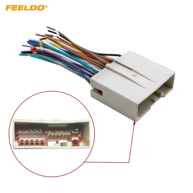 ffeldo 1pc car radio cd player wiring harness audio stereo wire rh aliexpress com car stereo wiring harness adapter stereo wiring adapter 2000 grand caravan