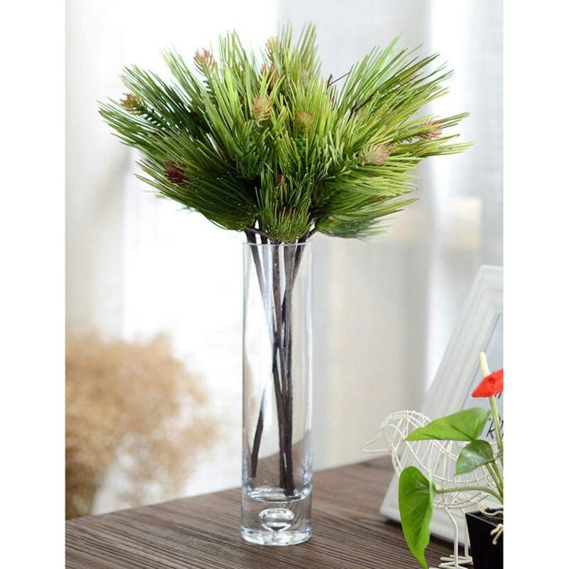 la decoracin del hogar artificial de pino rbol flexible tallo ramas secas planta verde hojas de