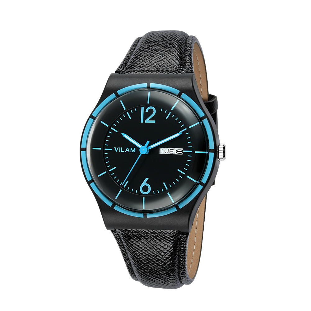 100% Vilam Brand Mens Watch Fashion Mirror Design Male Quartz Wristwatch Casual Man Daily Watches Soft Leather Reloj Hombre