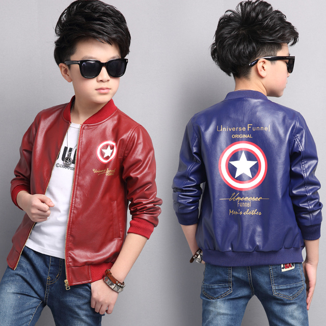 3a1d5301a0e2 Baby Boys Faux Leather Jacket Kids Girls And Coats Spring Kids Jackets Boys  Casual Black Solid Children Outerwear 2017
