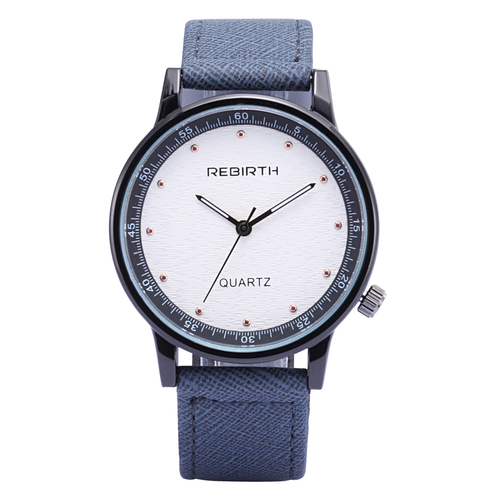 2017 Rebirth Fashion Casual quartz lover's watches Male Female Business Military Watch dress clock Business Christmas lover gift