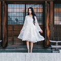 2016 Peter pan and wind series pure butterfly independent embroidery hanfu Retro full dress twinset W85