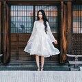 2016 Peter pan e do vento série borboleta puro independente bordado hanfu Retro vestido cheio twinset W85