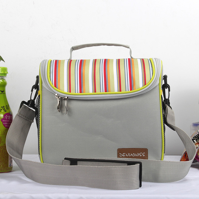 Oxford Insulated Lunch Bag Women Cooler Lunch Box Bags Thermal Food Picnic Small Bags Men Storage Container Lunch Bag for Kids