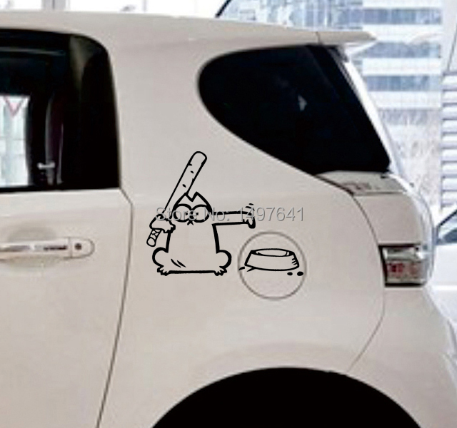 Simon S Cat Hungry Car Window Sticker Vinyl Decal For Fuel