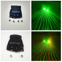 1Pcs Red Green Laser Gloves Dancing Stage Show Light With 4 pcs Lasers and LED Palm Light for DJ Club/Party/Bars