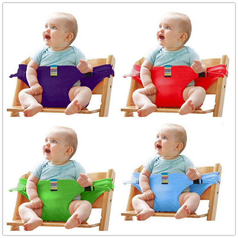 Baby Portable Seat Kids Chair Travel Foldable Washable Infant Dining High Dinning Cover Seat Safety Belt Auxiliary belt(China)