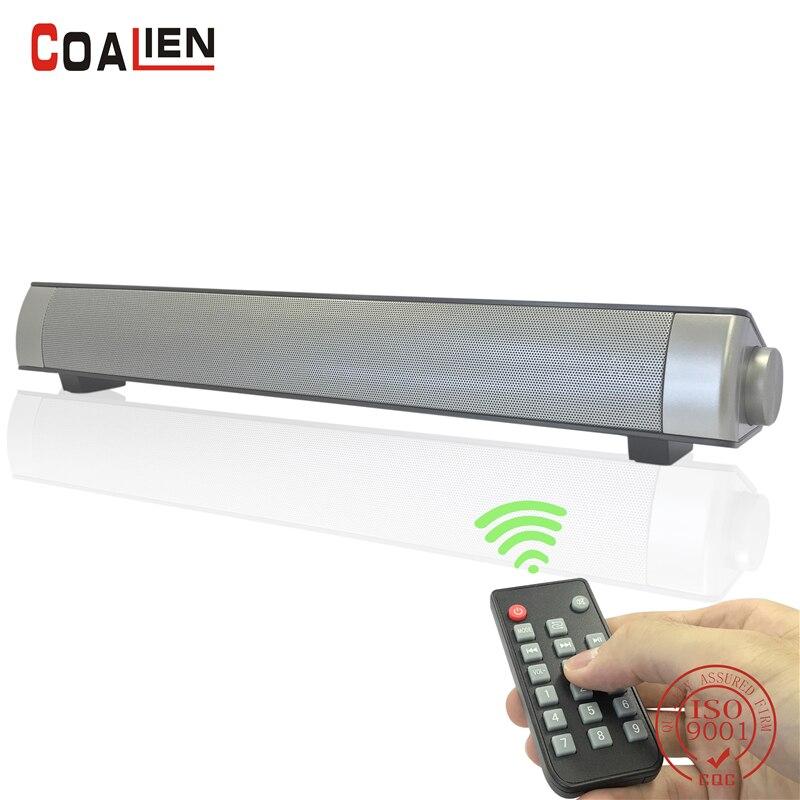 Coalien 10 Вт Bluetooth Динамик Беспроводной Портативный Сабвуфер Soundbar супер басовый Динамик для дома Театр ТВ iphone TF