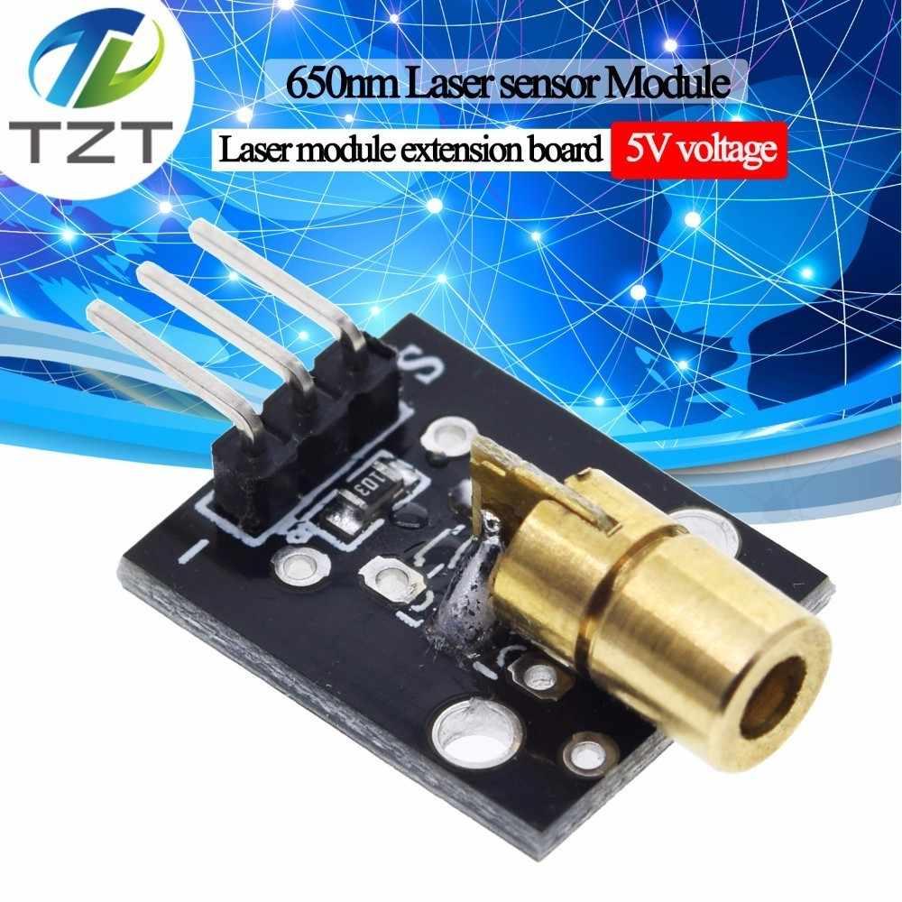 1 pièces KY-008 650nm Laser capteur Module 6mm 5V 5mW rouge Laser point Diode cuivre tête pour Arduino