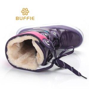 Image 5 - Sọc màu tím Cao Cấp Giày Bốt thời trang nữ Ủng chống trơn trượt chất lượng mùa đông giày Bé Gái Giày giá rẻ tàu sang trọng lông thú lớp lót Hot Phong Cách