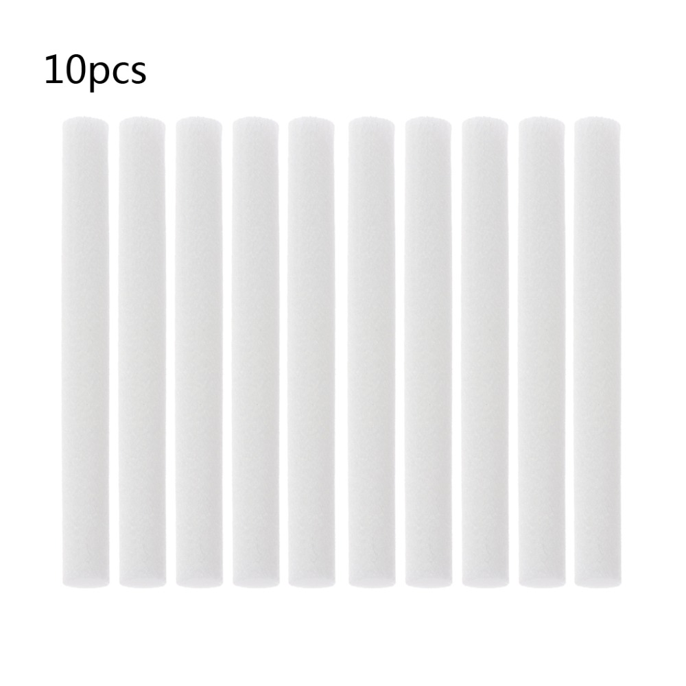 MEXI 10Pcs 8mmx68mm Humidifiers Filters Cotton Swab for Humidifier Aroma DiffuserMEXI 10Pcs 8mmx68mm Humidifiers Filters Cotton Swab for Humidifier Aroma Diffuser