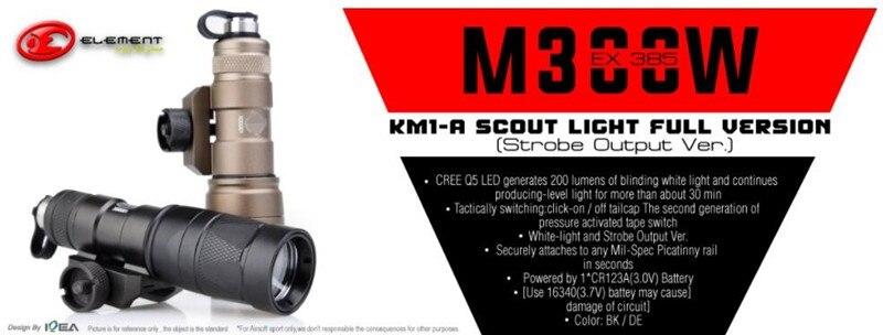 Strobe Output Ver. BK EX385-BK Element M300V KM1-A Scout Light Full Version
