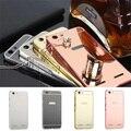 Espelho de luxo híbrido case para lenovo vibe k5 plus dura moldura de Alumínio De metal tampa traseira de Proteção para Lenovo telefone K5Plus casos
