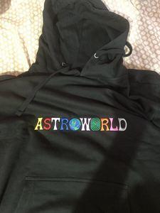 Image 3 - Толстовки с капюшоном с вышитым буквенным принтом Travis Scotts ASTROWORLD, толстовка с капюшоном больших размеров США S XXL