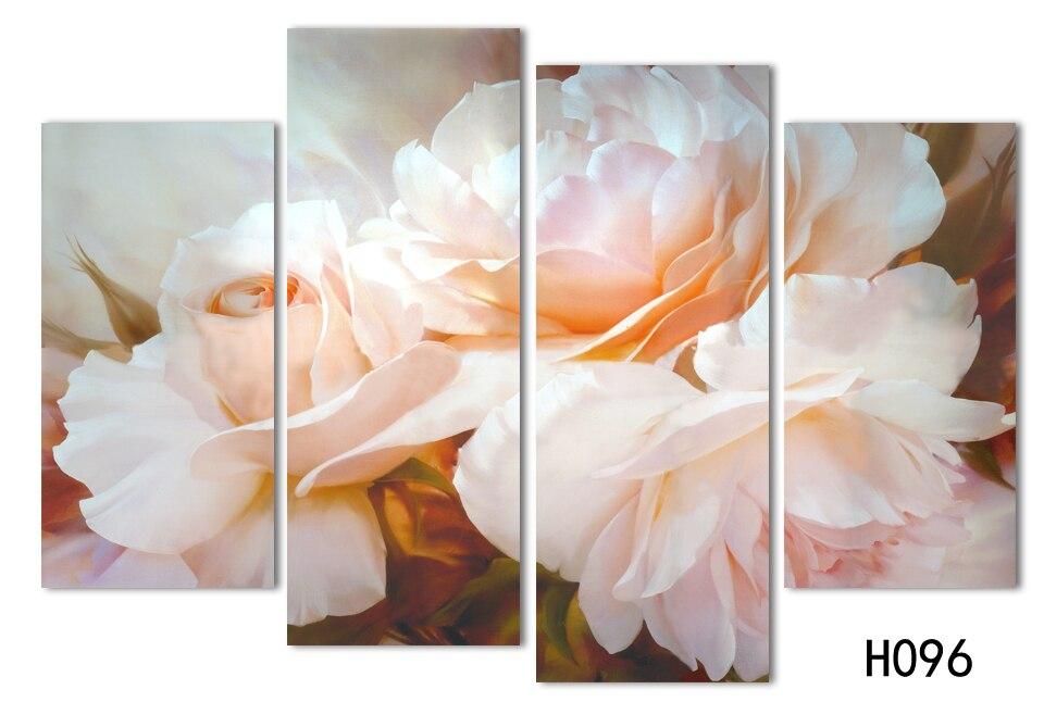 Nuove Immagini Modulari di Modo 4 Pz/set Combinato Rosa Dipinti di ...