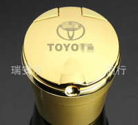 12 Colors High Quality Car Styling Car Ashtray Ash Tray Storage Cup With LED For TOYOTA
