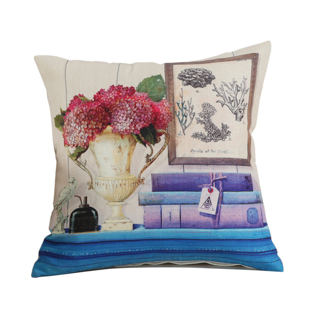 100 Polyester Sofa Throws Blue With Nailhead Trim Rubihome Creative 3d Printed Flower Birds Decorative Throw Pillows Cushions Covers For Home Decor Designer