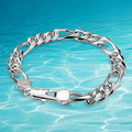 Men silver bralcet real silver bracelet 925 sterling silver jewelry bracelet  men thick genuine solid men silver bracelet