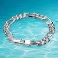 Men silver bralcet real silver bracelet 925 sterling silver jewelry bracelet  men thick genuine solid men silver bracelet