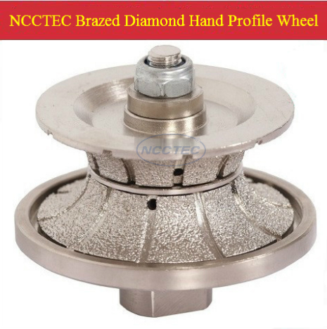 [65mm*10mm ] Diamond Brazed Hand Profile Shaping Wheel NBW V6510 FREE Shipping M12 Thread ROUTER BIT FULL BULLNOSE 10mm V10