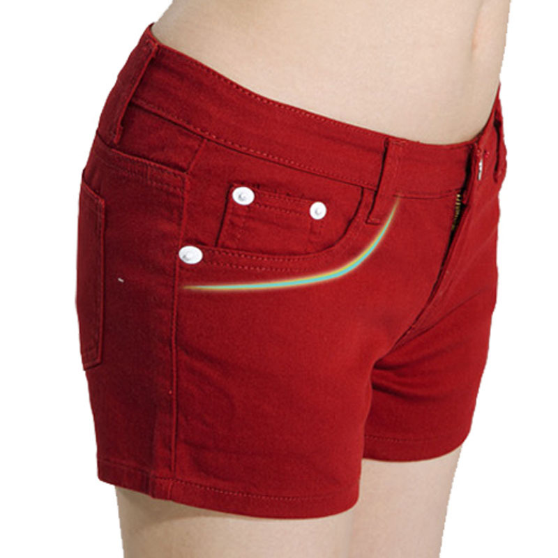 Online Shop Size 26-31 candy color women summer shorts women denim ...