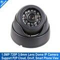 H.264 Mini Câmera IP 720 P Cúpula 1280*720 Rede Securiy CCTV câmera 1.0mp ir-cut onvif 2.0 p2p nuvem suporte iphone android vista
