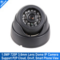 H.264 Mini IP Camera 720P Dome 1280*720 Securiy Network CCTV Camera 1.0MP IR-Cut Onvif 2.0 P2P Cloud Support iPhone Android View