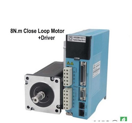NEMA 34 3 Phase 12NM Closed Stepper Servomotor Driver Kit for CNC Cutting Engraving Machine cnc stepper kit 3 phase name 34 full closed loop stepper driver