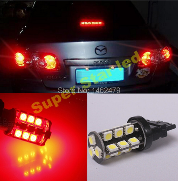 2 X 7443 T20 W21 5w Car Led Stop Tail Bulbs Brake Lights Bulb For Mazda Mazda2 Mazda3 Mazda5 Mazda6 Cx 5 7