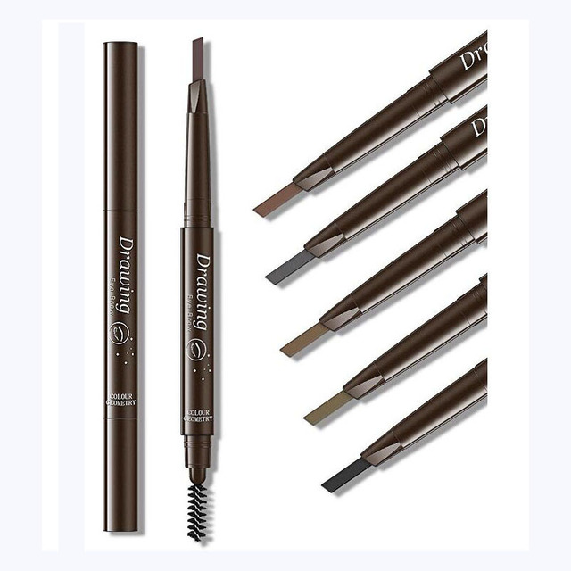 EyeBrow Pencil Cosmetics Makeup Tint Natural Long Lasting Paint Tattoo Eyebrow Waterproof Black Brown Eye brow Makeup Set Beauty 3