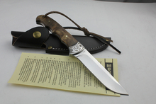 Outdoor Hunting Fishing Fixed Blade Knife with Real Leather Sheath Survival Tool Straight knife Hand Tools