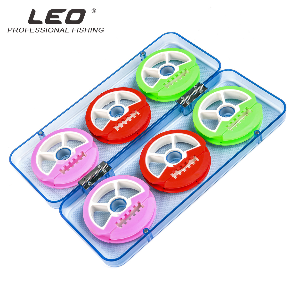 LEO Fishing Box Spool Line Winding Board Large 6-axis 8-axis Silicone Shaft Main Box Colorful Rubber Main Shaft Coil Box Pesca