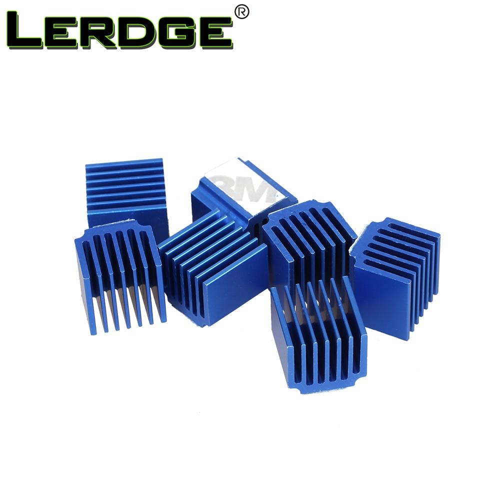 LERDGE Stepper Motor Driver Heat sinks Cooling Block Heatsink for TMC2100 LV8729 DRV8825 Drive Module 3D Printer Parts 4pcs/lot heacent hs01 diy 3d printer parts a4988 a4982 stepper motor driver heat sinks black 10 pcs