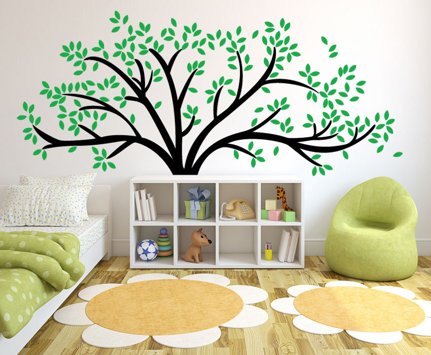 Giant Family Tree Wallpaper Vinyl Art Home Decals Room Decor Mural Branch Baby Wall Decals DIY Wall Stickers For Kids Room dsu new butterfly flower fairy wall sticker kids room bedroom removable decor art home mural