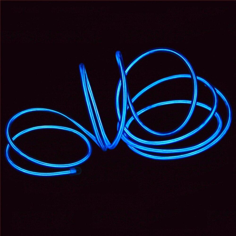 100 metros + cable ell, alambre de neón de alto brillo EL cable + 5,0mm