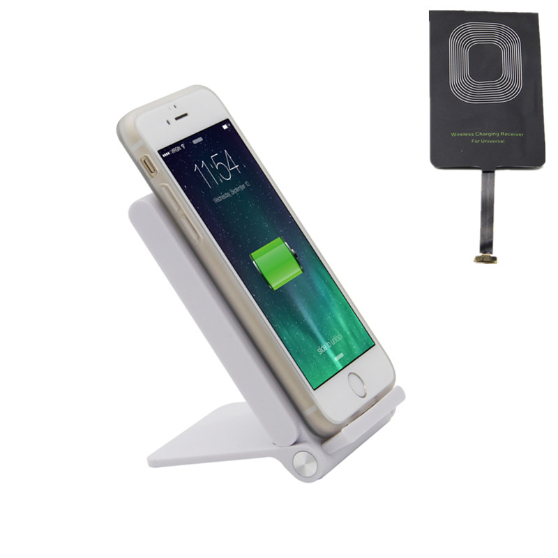 Wireless Mobile Charger Stand Holder Three Coils and Qi Universal Receiver with Micro Ports For Huawei,Xiaomi and Other Celluar