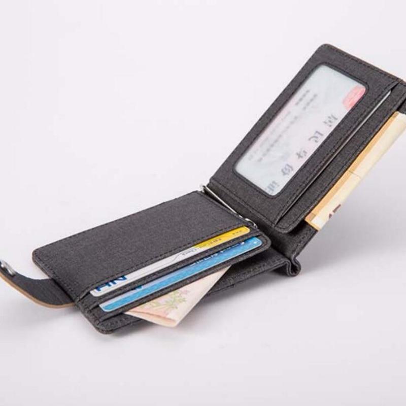男性財布クレジットカードメタルマネーホルダーマジッククリップ財布ミニidスリムダラーポケットクリップデザイナースチールクランプケース
